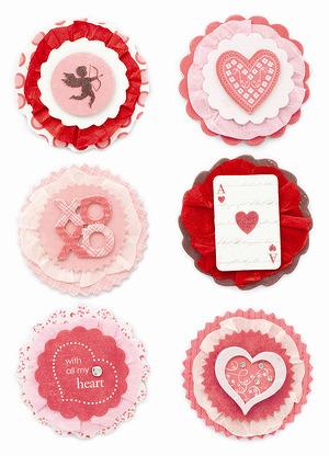 Valentine rosettes