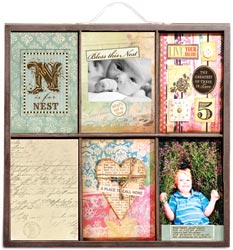 Artist photo tray decorated