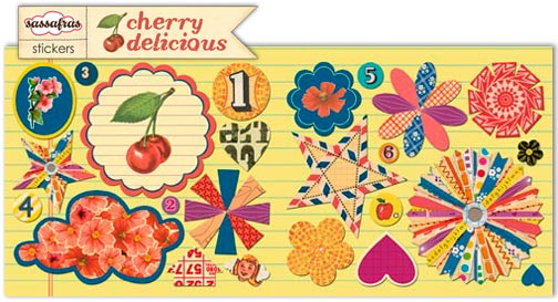 Cherry delicious small stickers