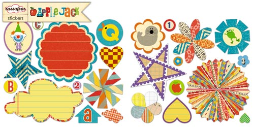 Apple jack small stickers