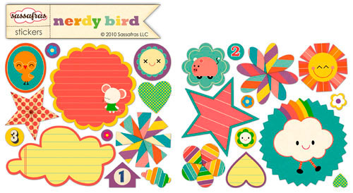 Nerdy bird small stickers