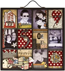 Artist photo tray decorated 12